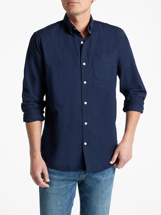 Erkek lacivert Oxford Standard Gömlek