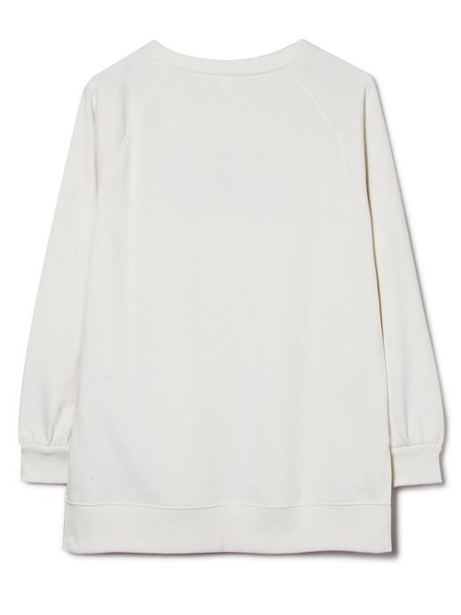 Uzun Kollu Pullu Logolu Sweatshirt