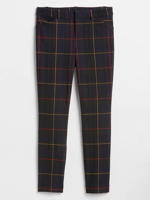 Ekose Streç Skinny Pantolon