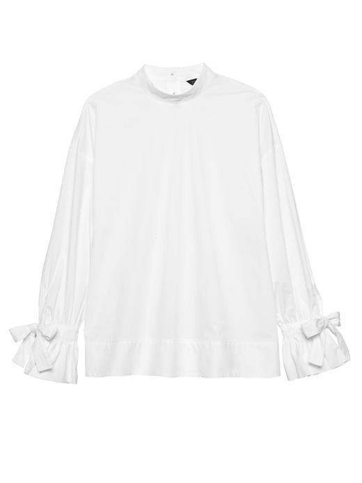 Kadın Beyaz Bilekleri Bağlamalı Bluz