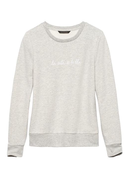 Havlu Kumaşı Sweatshirt