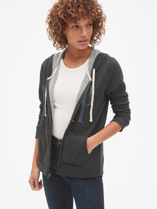 Pırıltılı Logolu Fermuarlı Sweatshirt