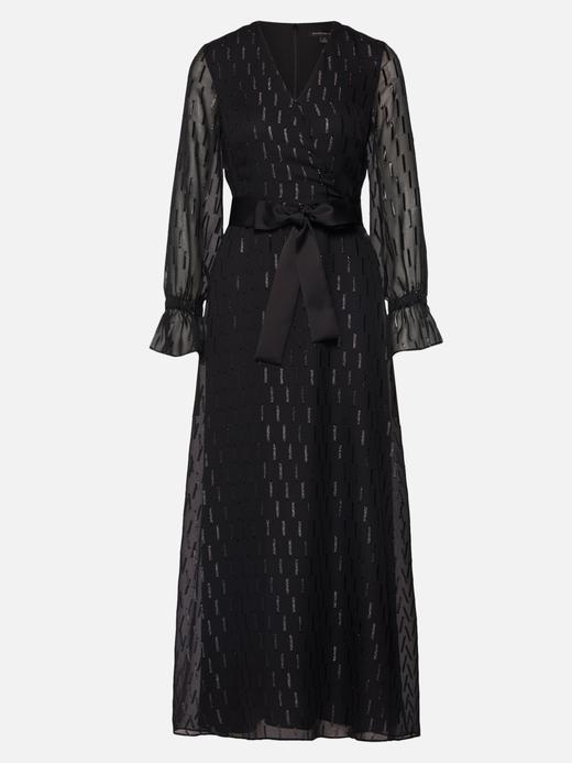 Kadın siyah Pıırltılı Maxi Elbise