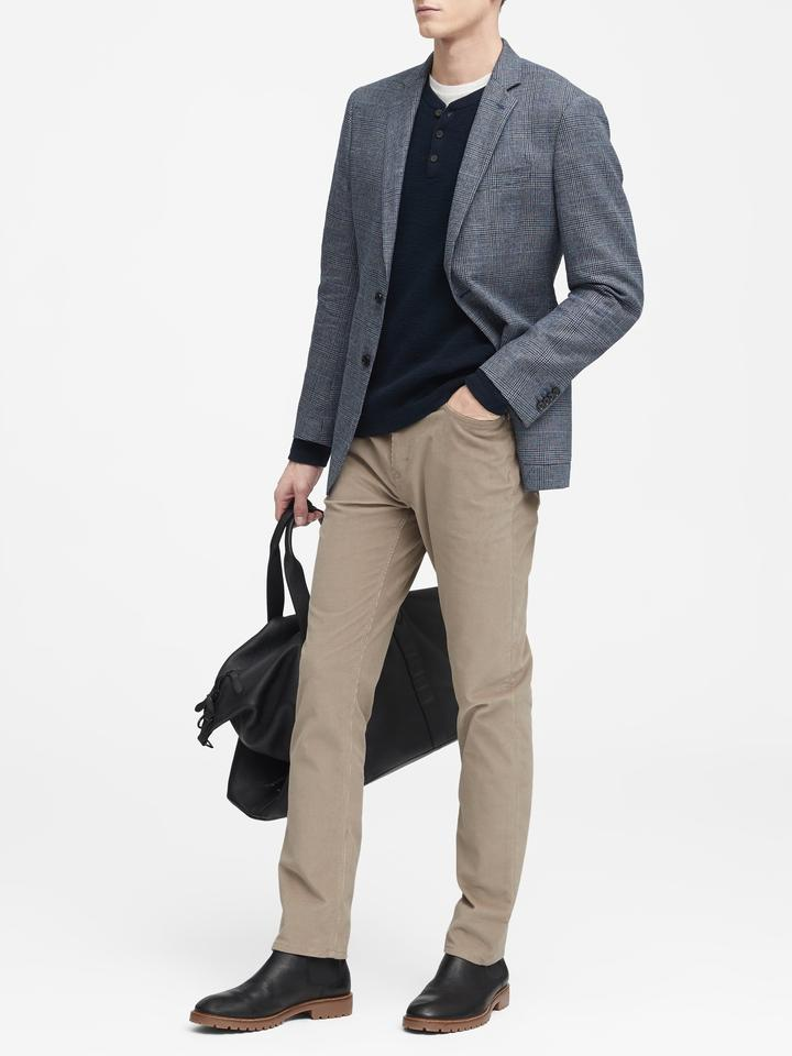 Slim Traveler Kadife Pantolon
