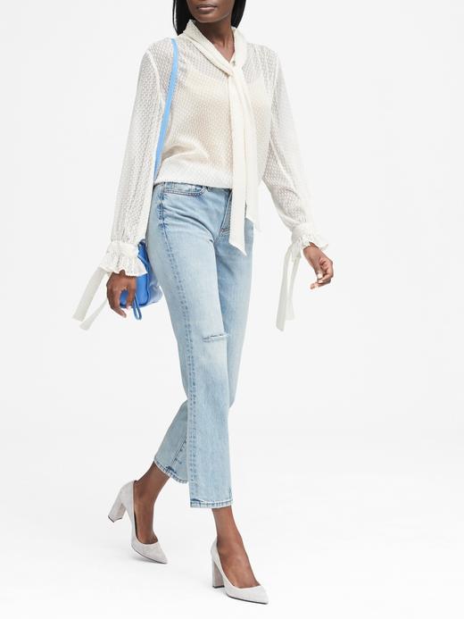 Kadın Mavi Uzun Kollu Gömlek
