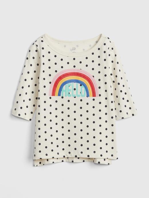 Bebek gökkuşağı Baskılı T-Shirt