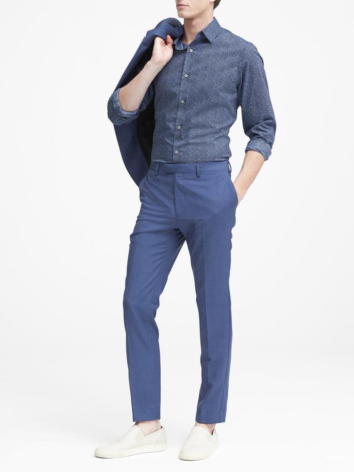 Grant Slim-Fit Ütü Gerektirmeyen Çiçekli Gömlek