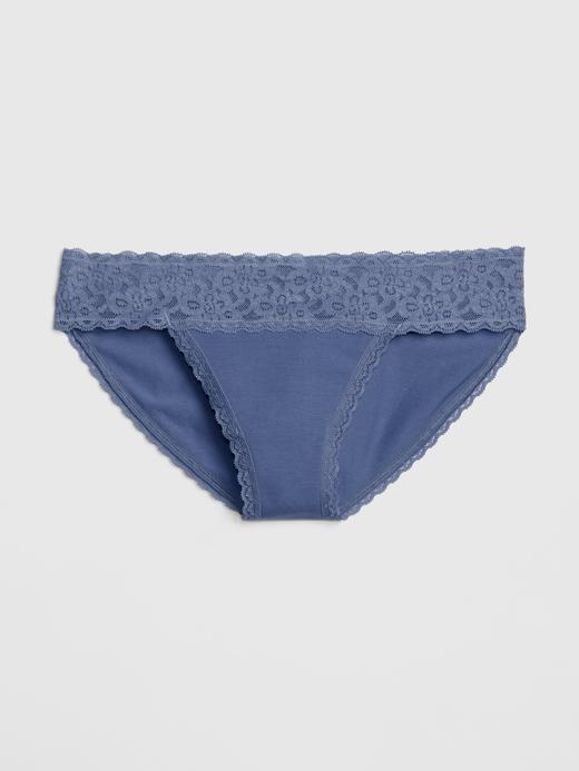 Pamuk Streç Dantelli Bikini Külot
