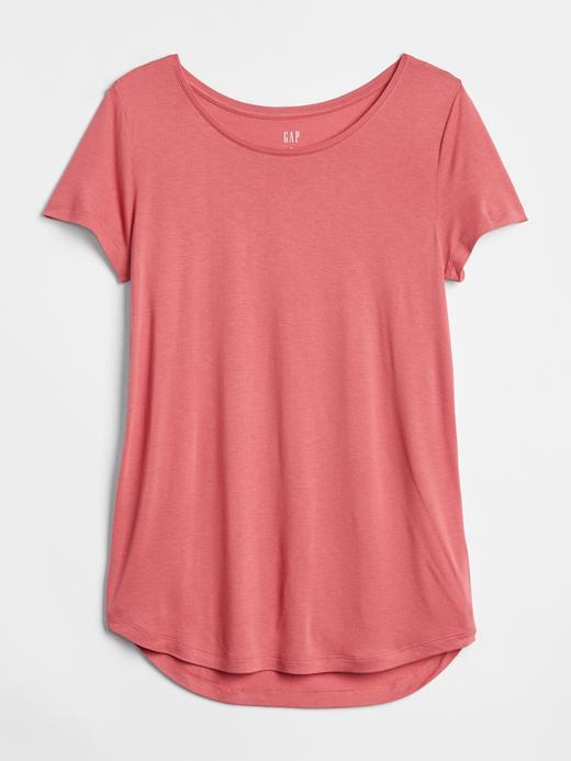 Kadın beyaz Kadın Kısa Kollu Jarse T-Shirt
