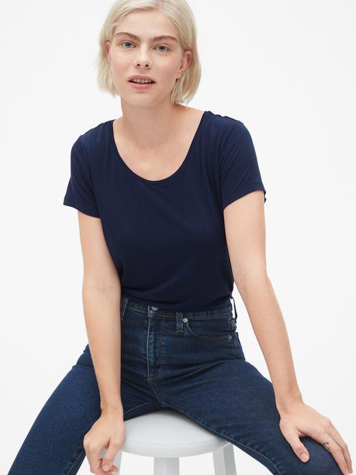 Kadın Kısa Kollu Jarse T-Shirt