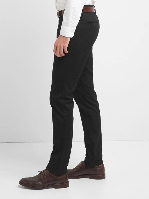Erkek lacivert Slim Fit Gap Flex Khaki Pantolon