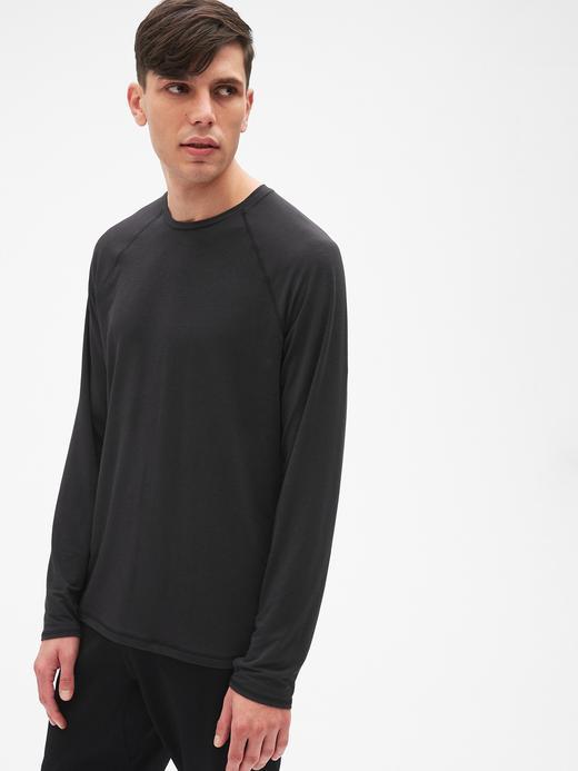 GapFit Breathe Uzun Kollu Sıfır Yaka T-Shirt