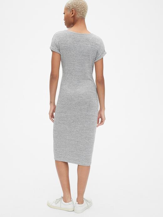 Softspun Kısa Kollu Midi Elbise