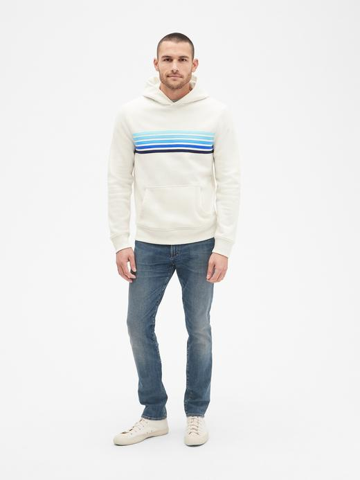 Vintage Yumuşak Dokulu Çizgili Sweatshirt