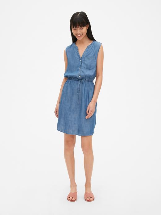 Tencel™ Kolsuz Gömlek Elbise