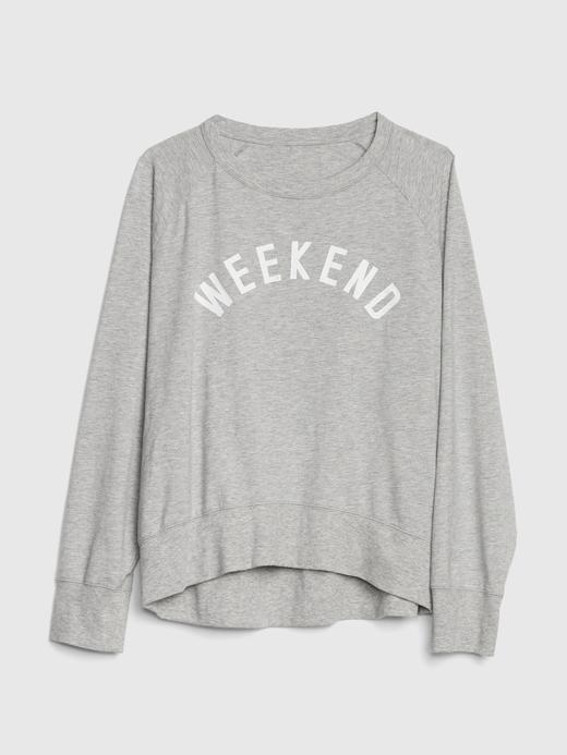 Baskılı Sweatshirt Pijama Üstü