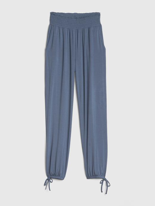 Modal Karışımlı Bilekten Bağlamalı Pijama Altı
