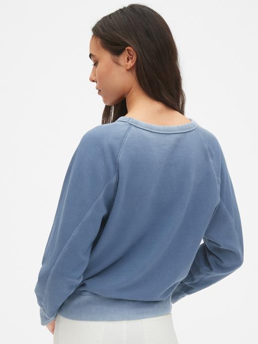 Vintage Yumuşak Dokulu Sweatshirt
