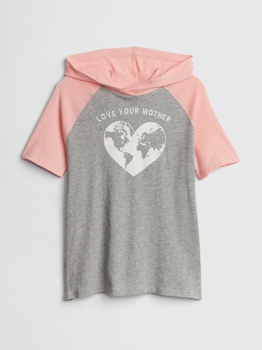 Baskılı Kapüşonlu Tunik T-Shirt