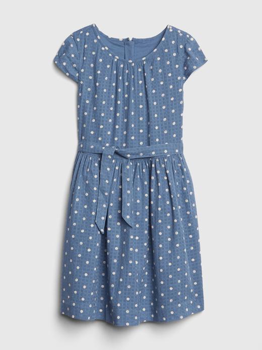 Puantiye Desenli Kuşaklı Elbise