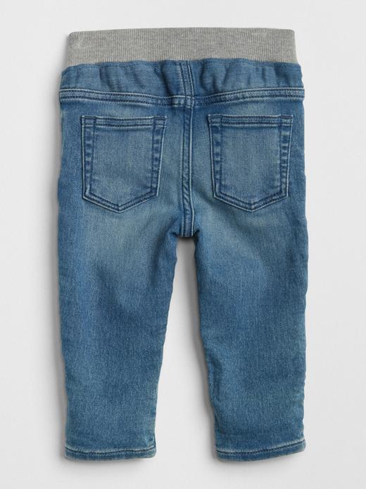 Bebek açık renk yıkama Slim Jean Pantolon