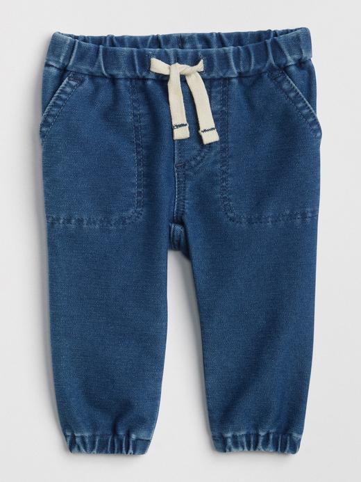 Bağcıklı Denim Jogger Pantolon