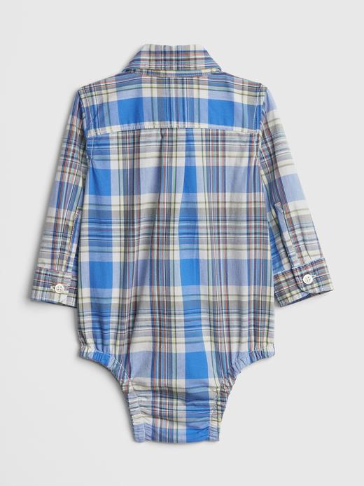 Bebek mavi Uzun Kollu Ekose Body