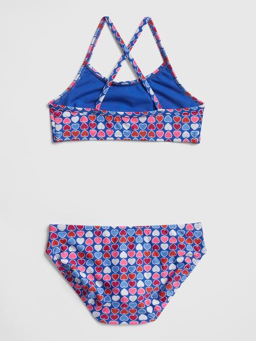 Kalp Desenli Bikini Takımı