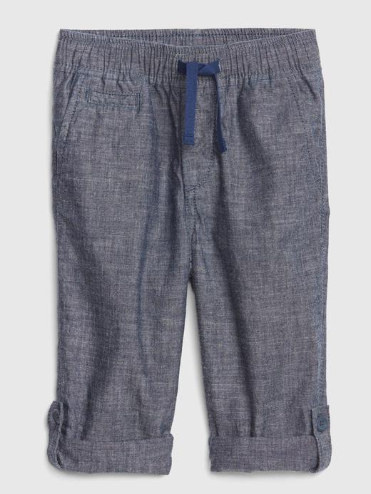 Bebek lacivert Lastik Belli Pantolon