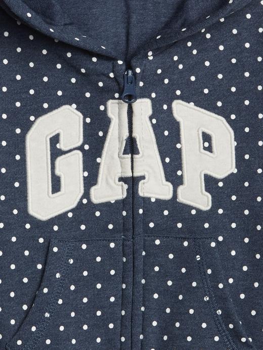Bebek lacivert Gap Logo Puantiyeli Sweatshirt