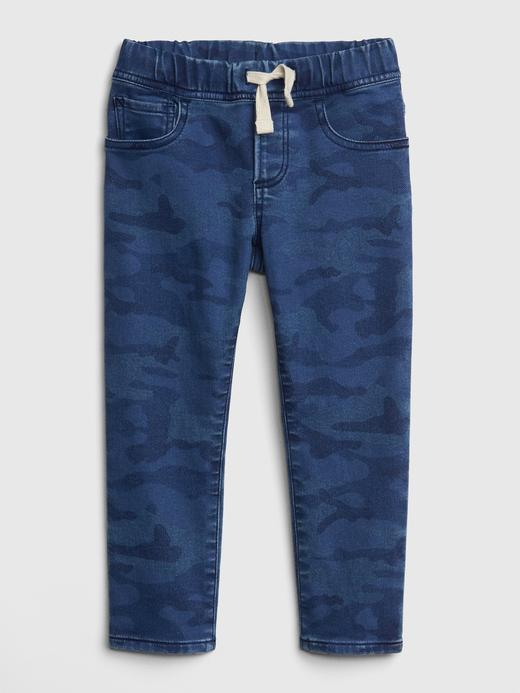 Bebek mavi kamuflaj Superdenim Fantastiflex Slim Jean Pantolon