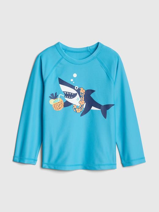 Bebek açık mavi Baskılı Reglan Kollu Mayo T-Shirt