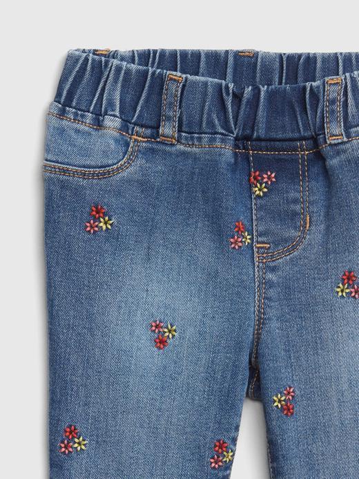 Çiçek İşlemeli Fantastiflex Tayt Jean Jegging Pantolon