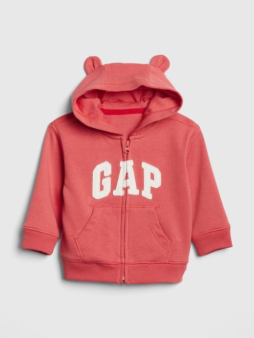 Bebek açık kırmızı Gap Logo Kapüşonlu Sweatshirt