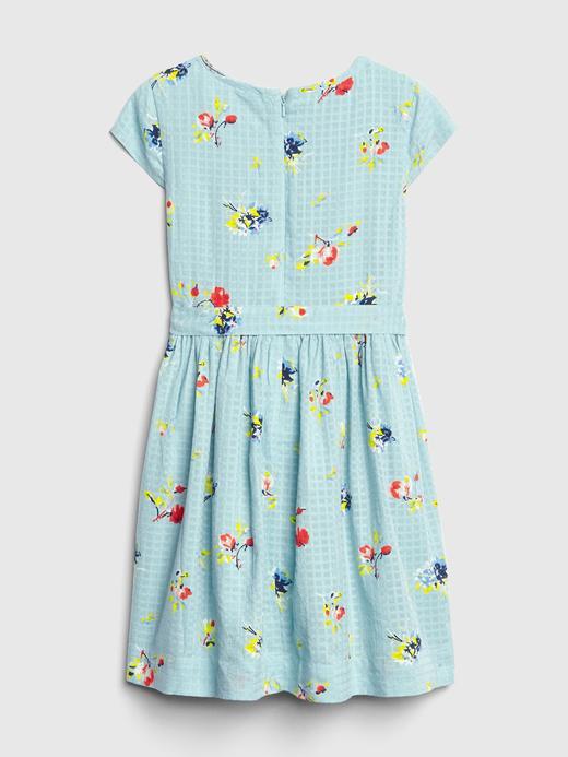Çiçek Desenli Kuşaklı Elbise