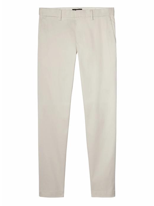 Erkek Beyaz Aiden Slim Fit Chino Pantolon