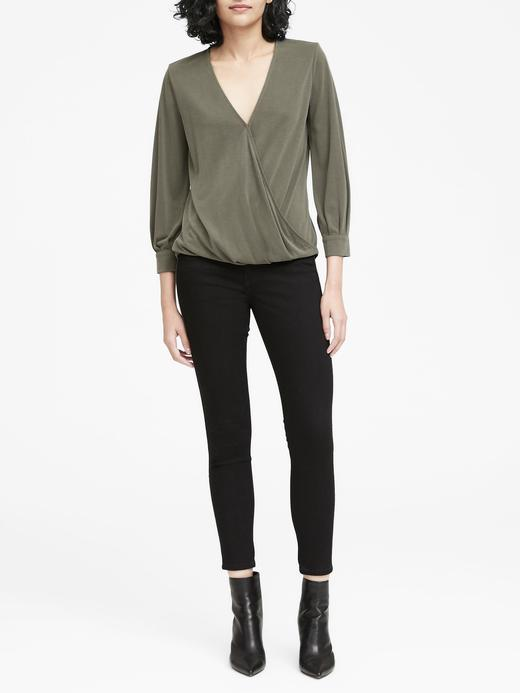 Sandwash Modal Karışımlı Uzun Kollu Bluz