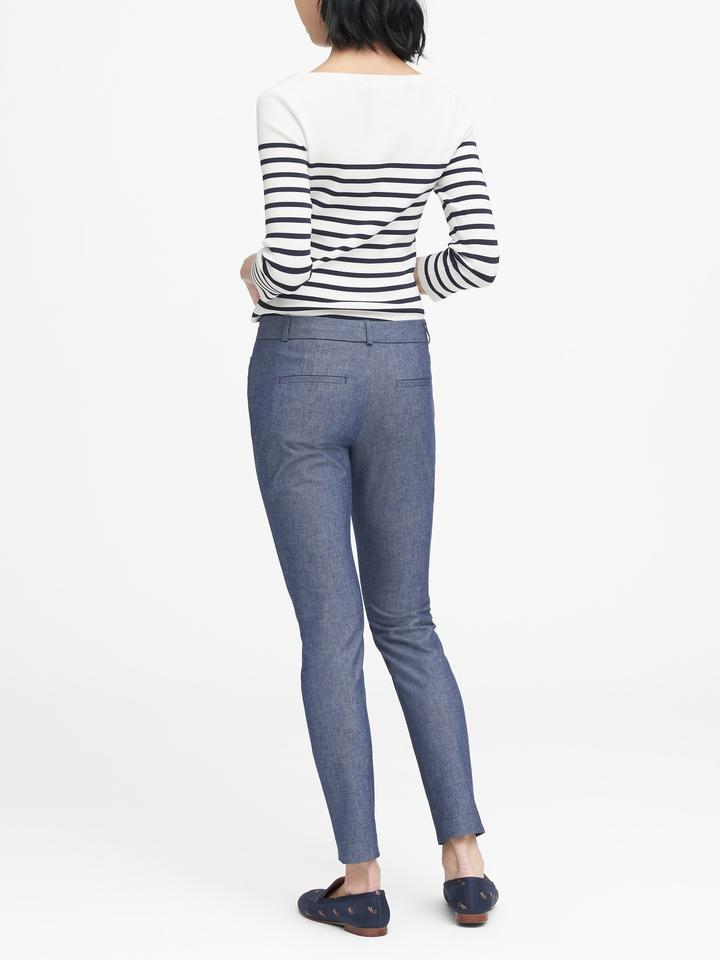 Kadın Mavi Sloan Skinny-Fit Şambre Pantolon