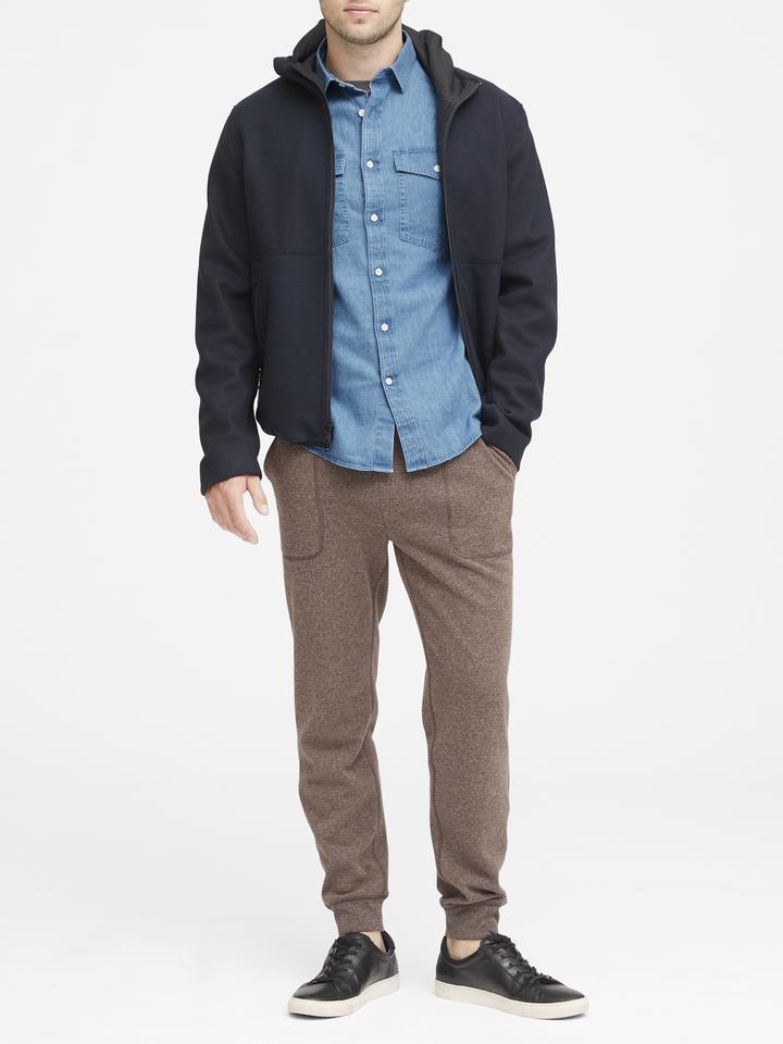 Slim-Fit Şambre Gömlek