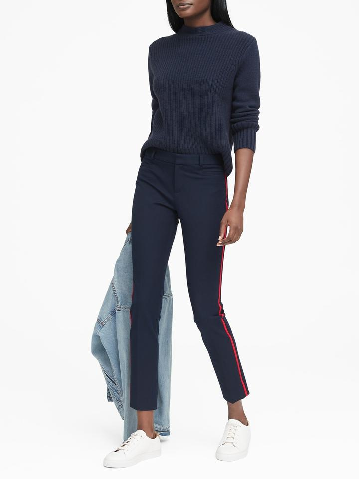 Kadın lacivert Sloan Skinny-Fit Yanları Çizgili Pantolon