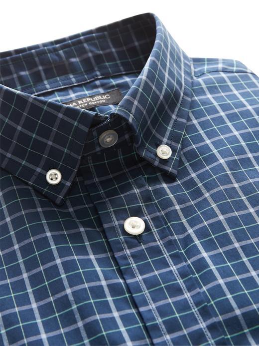 Slim-Fit Tech Pamuklu Streç Gömlek
