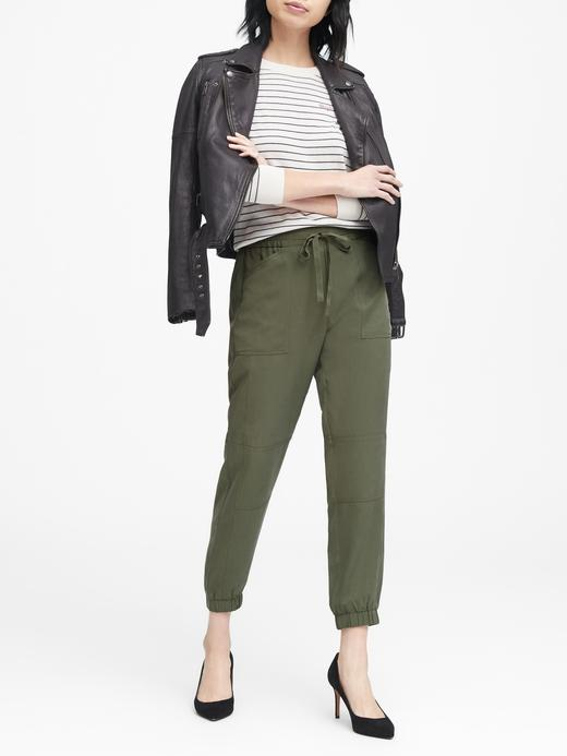 Kadın yeşil TENCEL™  Jogger Pantolon