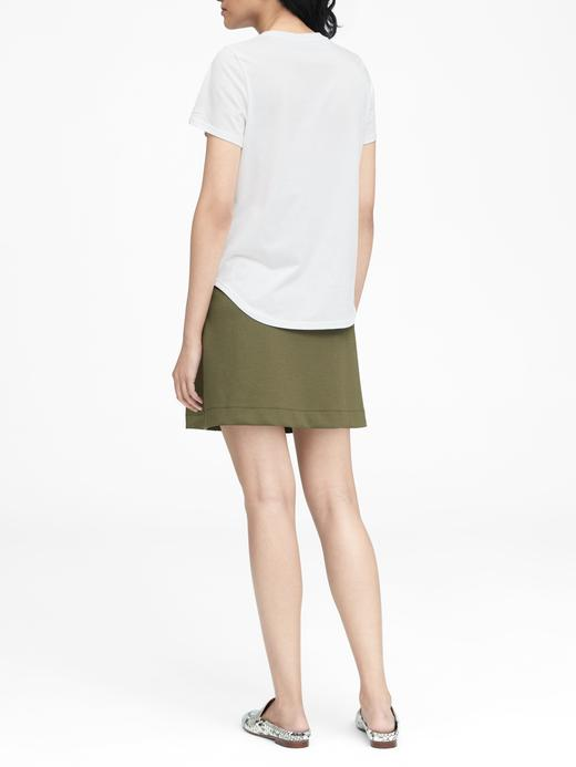 Supima® Pamuklu Sıfır Yaka T-Shirt