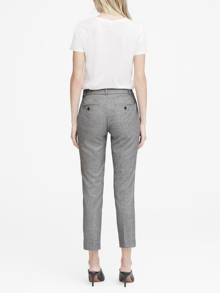 Kadın kırçıllı gri Avery Straight-Fit Pantolon