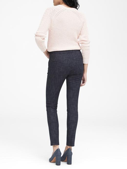 Yüksek Belli Ekose Pantolon