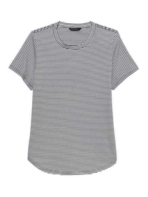 SUPIMA® Pamuklu Çizgili T-Shirt
