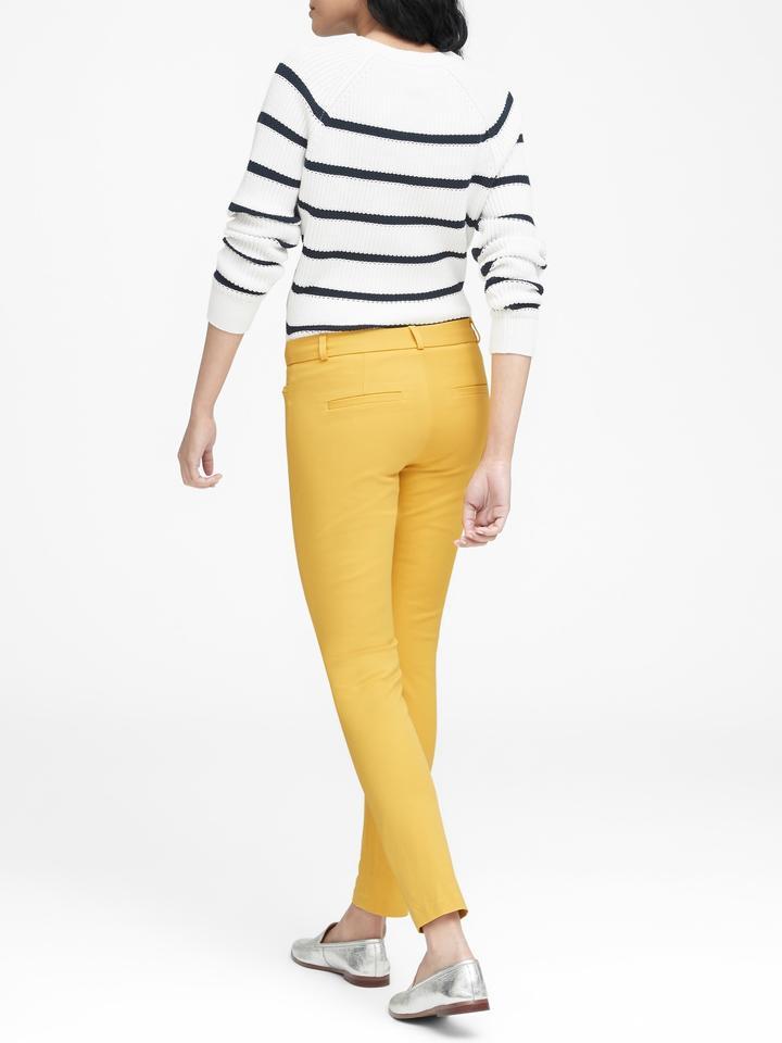 Kadın sarı Sloan Skinny-Fit Pantolon