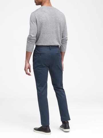 Erkek Siyah Aiden Slim Fit Chino Pantolon