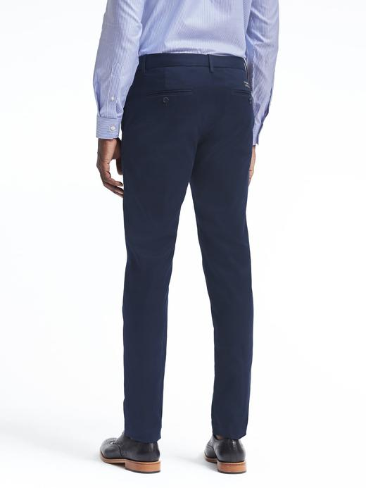 Erkek Gri Aiden Slim Fit Chino Pantolon