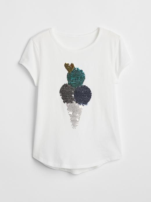 Kız Çocuk fuşya Değişen Pullu T-Shirt